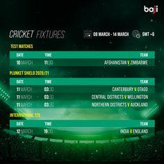 ম্যাচের সিডিউল দেখুন baji555! এখনই baji555 এ বেট ধরুন এবং উইন বিগ! #baji #Sports #Cricket #Schedule #Fixtures Cricket Fixtures, Auckland, Instagram