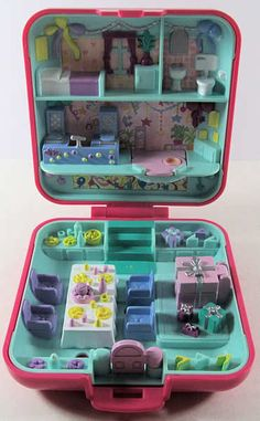 1989 Polly Pocket Partytime Surprise w/ Teddy Bear COMPLETE. $17.00, via Etsy.