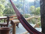 The place we're staying in Ella, Sri Lanka... the thought of laying in a hammock overlooking a waterfall makes my heart thump