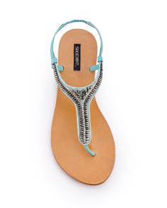 adorable beaded, teal sandals