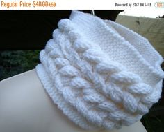 Check out this item in my Etsy shop https://www.etsy.com/listing/201700736/on-sale-chunky-white-knitted-cable-cowl