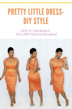 This is a great beginner friendly dress to sew that packs a real punch. No doubt about it the style is a crowd favorite, now you can DIY it for yourself. 1950s Dress Patterns, Dress Making Patterns, Sewing Patterns, Diy Fashion No Sew, Fashion Sewing, Pretty Little Dress, Little Dresses, Diy Dress, Dress Sewing
