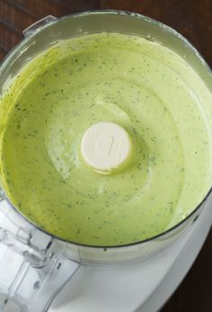 This Avocado Ranch Dressing is a healthier take on the classic salad dressing. It's ultra creamy thanks to the addition of Greek yogurt, and the fresh dill and chives add so much flavor! Perfect as a dip, atop salads, and more! Yogurt Ranch Dressing, Greek Yogurt Ranch, Ranch Dressing Recipe, Greek Yogurt Recipes, Salad Dressing Recipes, Avocado Dressing, Ranch Dip, Grilled Salmon Salad, Vegetarian