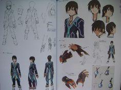 Tales of Xillia - Jude reference sheet. Kousuke Fujishima's original sketch is at the top left.