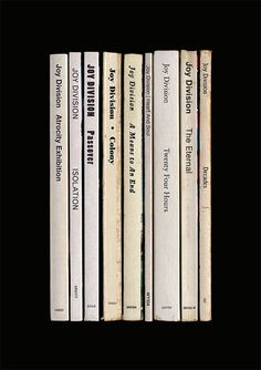 Joy Division Closer Album As Books Poster by StandardDesigns, £12.50