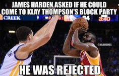 klay-thompson-with-5-blocks-on-james-hardenrockets-warriors - http://nbafunnymeme.com/nba-memes/klay-thompson-with-5-blocks-on-james-hardenrockets-warriors