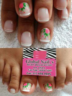 Pedicure Nails, Mani Pedi, Toe Nails, Pedicure Designs, Toe Nail Designs, Great Nails, Nail Tech, Spring Nails, Make Up