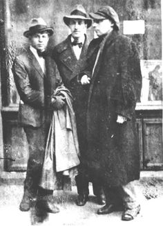 Есенин, Мариенгоф, Хлебников, 1920