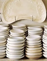 Ironstone ♥  Butter PATS  dishes!