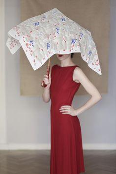 """""""Lluvia"""" scarf by SuTurno / Photo: Lourdes Cabrera / Model & stylist: Andrea Pimentel"""