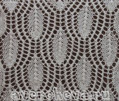 knit pattern lace openwork leaves with double ring of eyelets  knit stitch  leaf feather