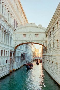 Venice. It looks like a marble palace, roads of blue carving their path into it...