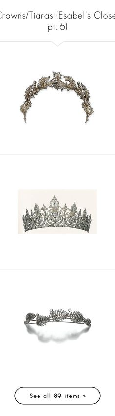 """""""Crowns/Tiaras (Esabel's Closet pt. 6)"""" by kimberlylindsey ❤ liked on Polyvore featuring accessories, hair accessories, crown, jewelry, tiara, crowns and tiaras, crown tiara, tiara crown, filler and tiaras"""