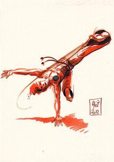 Encres : Capoeira - 27 [ #capoeira #ink #painting ]
