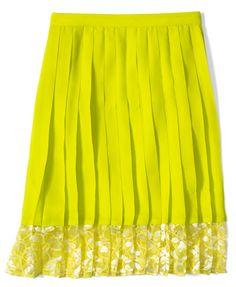 Cutie neon skirt for spriiiiiing!