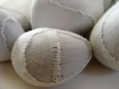 Kirsty Hall, Tatterdemalion, 2016 255 rocks sewn into tiny shrouds - a rock for each month that I've been ill with ME/CFS. https://flic.kr/p/EgZH8C   Tatterdemalion 04  