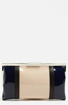 Marni Bicolor Frame Clutch available at #Nordstrom