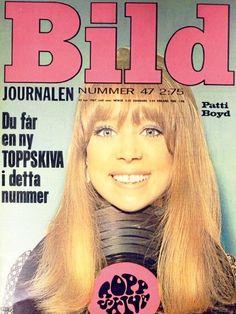 Pattie Boyd-Harrison (on the cover of Bild magazine, 1960s)