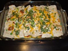 Chicken and White Bean Enchiladas with Creamy Salsa Verde Recipe ...