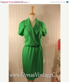 50% OFF Valentine Sale St John Collections by Marie Gray Lime Green Knit Dress sz M
