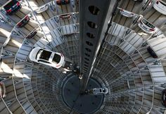 Volkswagen Car Parking Tower ... this makes me dizzy!