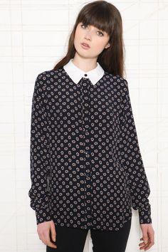 Cooperative Polka Dot Paisley Shirt at Urban Outfitters