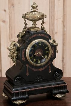 Antique Napoleon III Period Mantel Clock | Antique Mantel/Wall Clocks | Inessa Stewart's Antiques