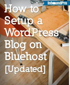 Setup wordpress on bluehost