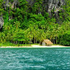 An island near El Nido Resort in the Palawan Island, Philippines.