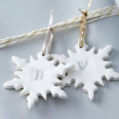 alphabet snowflake christmas decoration by made by hands | notonthehighstreet.com