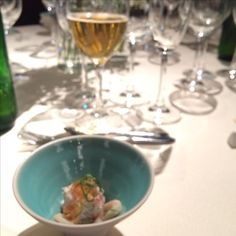 紅ずわい蟹と三杯酢のジュレ 蓮根としめじのお浸し@KAWABUN