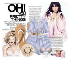"""""""shein"""" by armin-i ❤ liked on Polyvore featuring Hollister Co., Fendi, August Hat and Stila"""