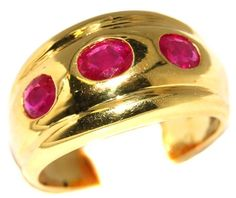 Three Stone Oval Ruby Jewelry 18K Yellow Gold Ring [R0066... https://www.amazon.com/dp/B00BRJ2G2S/ref=cm_sw_r_pi_dp_KGODxb9YT7X9D