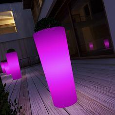 Plastic Fiori Coloured Pots Pink Schio Cono