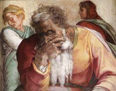 The Prophet Jeremiah, by Michelangelo