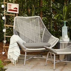 I don't have any outdoor space and this kind of money, but damn, I wish I did. Huron Chair | west elm