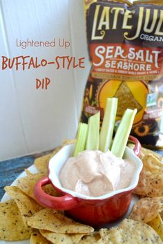 Lightened Up Buffalo Style Dip and Chips