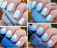 Tutorial for nail design of World Diabetes Day 2012