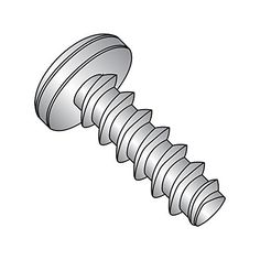 #6-32 Thread Size Phillips Drive 7//16 Length 18-8 Stainless Steel Thread Rolling Screw for Metal Passivated Finish Pan Head Pack of 50