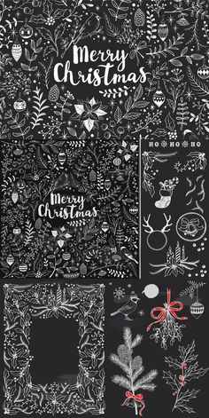 Hello, In this Merry Christmas chalkboard Zip, you will get -huge collection in vector AI) with hand-drawn doodles, frames and design elements on Christmas Doodles, Merry Christmas To You, Christmas Drawing, Noel Christmas, Christmas Crafts, Christmas Window Display, Christmas Window Decorations, Christmas Windows, Xmas Wallpaper