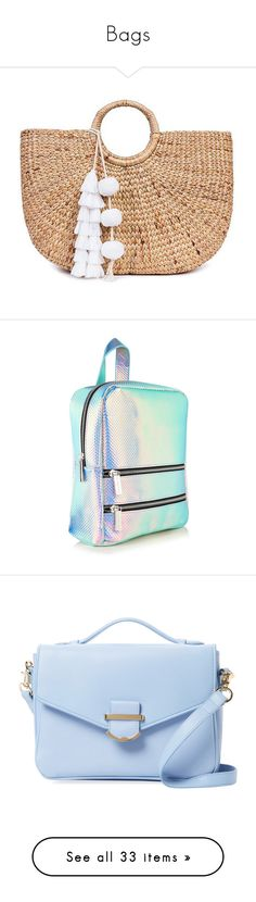 """""""Bags"""" by thirty-one-flight-attendants ❤ liked on Polyvore featuring bags, handbags, beach bag, purses, white, round bag, handle bag, round handbags, jade tribe bags and tassel purse"""