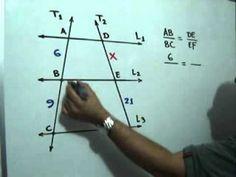 Teorema de Thales (Parte 2 de 2): Julio Rios explica un ejemplo donde se utiliza el Teorema de Thales