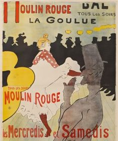 Henri de Toulouse-Lautrec - Moulin Rouge, La Goulue, poster for the Dance Hall Le Moulin Rouge, Van Gogh Museum, Amsterdam (State of the Netherlands). Henri De Toulouse Lautrec, Vintage French Posters, Vintage Images, Alphonse Mucha, Belle Epoque, Old Poster, Art Nouveau, Van Gogh Museum, Art Museum