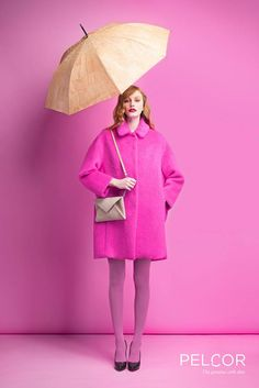 "Pelcor Fall/Winter 2014/15 - Feeling like ""Dancing in the rain"" with your gorgeous cork umbrella and Envelope Clutch from Pelcor?"