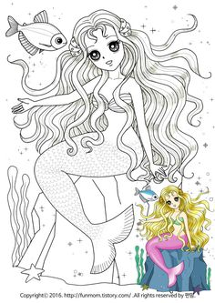 Cute Coloring Pages, Coloring Pages For Kids, Adult Coloring, Coloring Books, Disney Princess Coloring Pages, Disney Princess Colors, Kids Patterns, Doll Patterns, Mermaid Drawings
