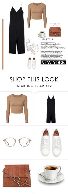 """""""New York City girl"""" by djulia-tarasova ❤ liked on Polyvore featuring Joseph, Ace, H&M, Chloé and OBEY Clothing"""