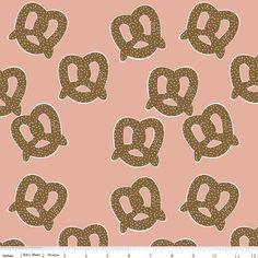 On Sale! Riley Blake Novelty Pretzels Pink 100% Cotton by MilkshakesnSunshine on Etsy