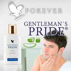 Pamper and soothe your skin with the moisture of Gentleman's Pride®, an alcohol-free aftershave in a clean, masculine scent. Forever Aloe Lips, Forever Bright Toothgel, Aloe Benefits, Aloe Heat Lotion, Forever Living Aloe Vera, Forever Living Business, Smooth Face, Forever Living Products, Forever Love