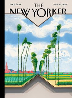 "Françoise Mouly interviews David Hockney about ""The Road,"" his illustration for the April issue of The New Yorker. The New Yorker, New Yorker Covers, David Hockney Artist, David Hockney Paintings, The Road, Capas New Yorker, Girl Dragon, Travel Outfit Spring, Kunst Poster"