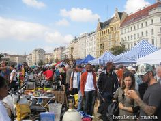 Naschmarkt flea market.  See that rocking chair floating over the crowd!? That's mine ;-)